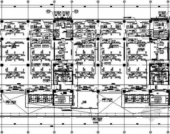 [上海]大型商务中心空调通风设计全套施工图200张(著名院 水蓄冷系统)