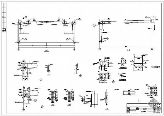 广州某汽车公司试制车间扩建图纸