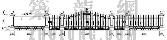 教堂铁艺围墙设计方案