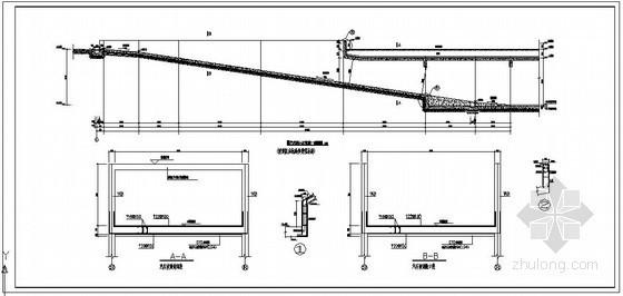 某地下车库汽车坡道节点构造详图