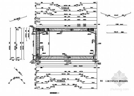 [山西]下穿古建筑分离式框架立交桥设计图