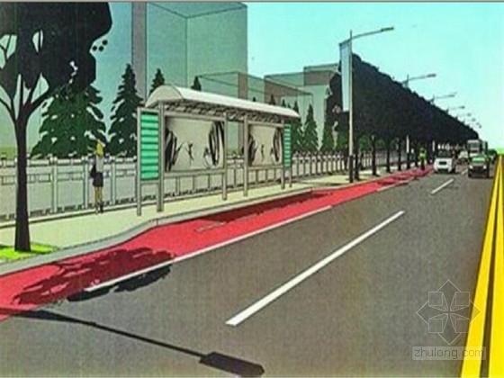 2013年双向四车道市政道路施工图87张CAD(含交通排水照明)