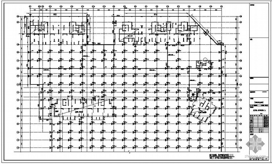 温州某职工住宅小区地下室及上部工程结构设计图