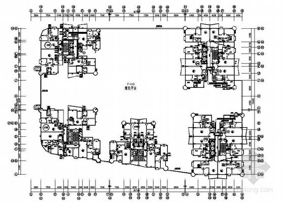 某住宅5至30层给排水平面图