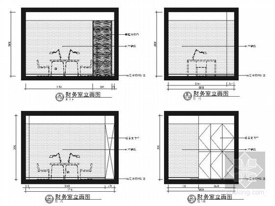 [锡安]知名设计单位高级专业现代月子会所装修施工图(含效果)大堂立面图