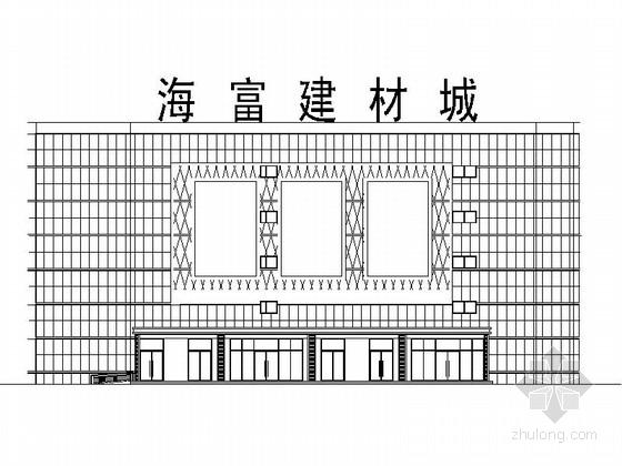 [黑龙江]高层现代风格建材城建筑设计施工图