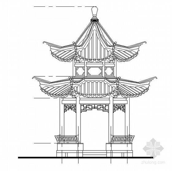 古建六角亭结构施工图(含建筑施工图)