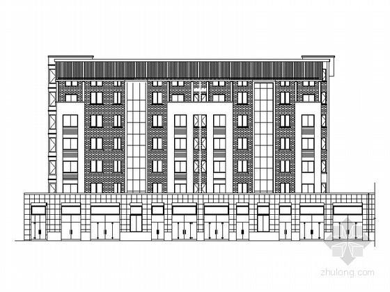 [安徽黄山]某沿街六层商住楼建筑施工图