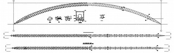 管桁架结构运动场看台罩棚结构设计图