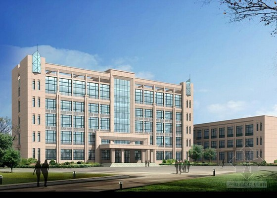 [河南]办公楼土建工程量清单报价实例(附图纸97页)