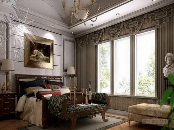 [上海]新古典风名人府邸双层别墅室内设计软装方案