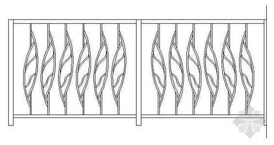 铁艺栏杆详图07