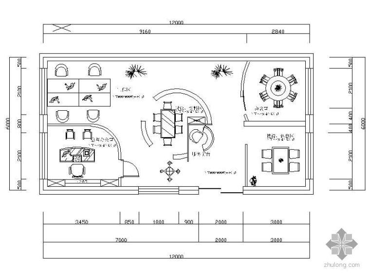 小型设计工作室平面图