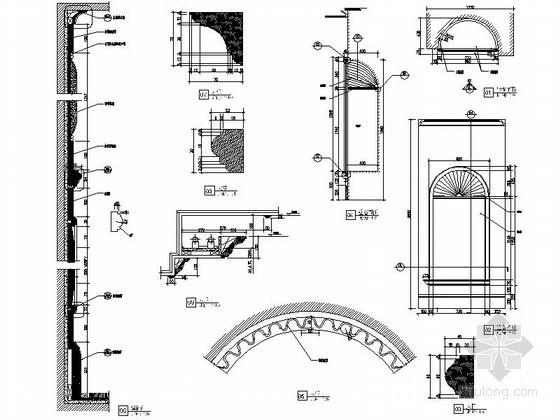 欧式古典装饰壁窿详图