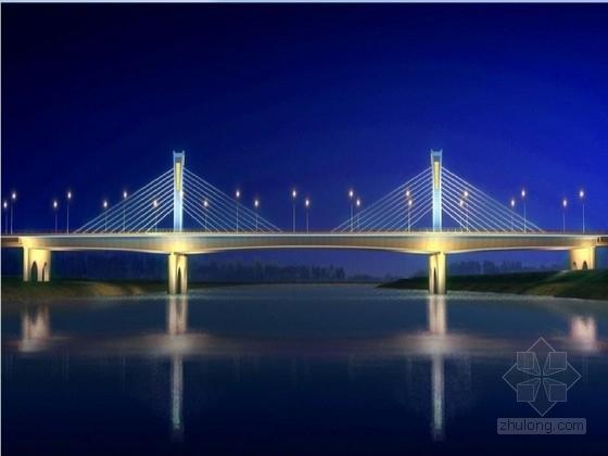 跨河斜拉桥及接线工程施工图1168页(各式箱梁引桥 道路照明交通管线)