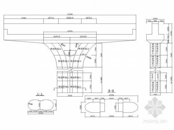 立交桥工程花瓶墩模板施工图