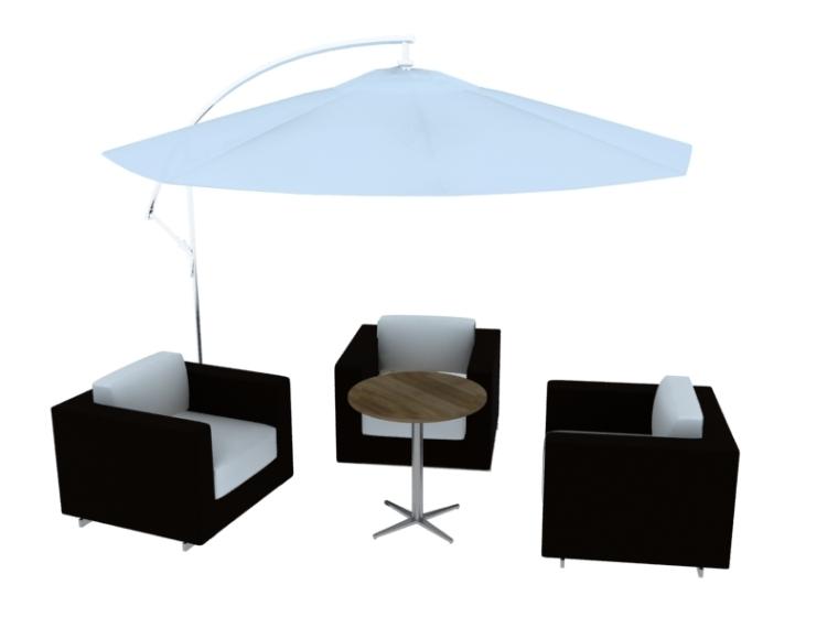 休闲现代椅子3D模型下载-1