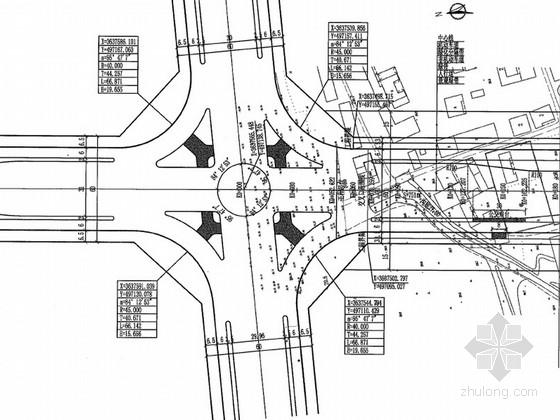 [安徽]双向六车道市政道路及交通工程施工图设计97页