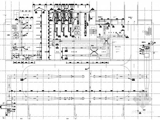 [湖北]医院门诊住院综合楼空调通风排烟系统设计施工图(含医用气体系统)