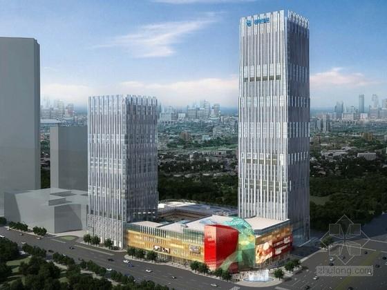 [广东]超高层双子塔商办综合体建筑设计方案文本(商业航母)
