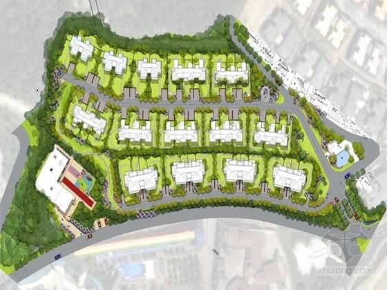 [重庆]民族风情现代高档居住区景观设计方案
