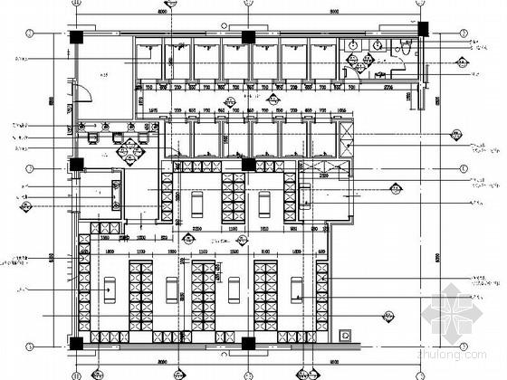 [江苏]典雅花园式酒店附楼浴室区装修施工图(含效果)