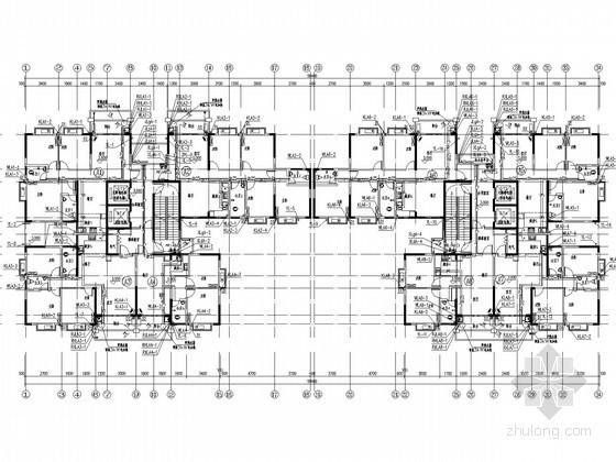 [广西]旧房改造工程高层住宅楼给排水消防施工图(太阳能热水系统 气体灭火)
