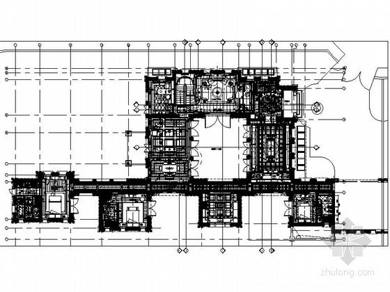 [江苏]奢华高档古典欧式风格别墅室内装修施工图(含实景)