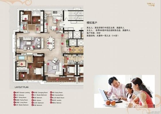 [上海]国际花园别墅三个户型室内装修室内文本汇报方案
