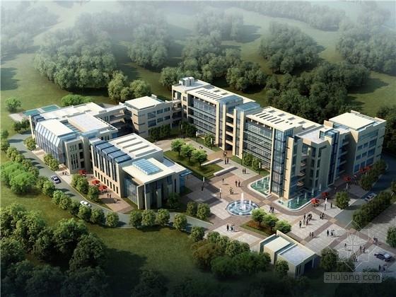 [福建]现代风格庭院式办公总部规划设计方案文本(含多栋建筑)