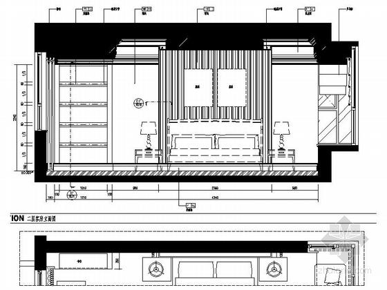 [浙江]某公馆时尚简欧三层别墅装修图(含效果)客房立面图