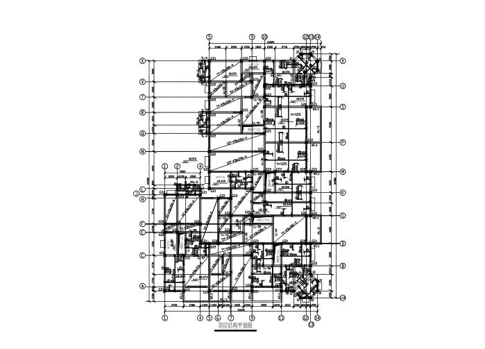 5层底框结构住宅楼结构施工图(CAD、26张)