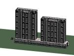 BIM模型-revit模型-住宅小区模型