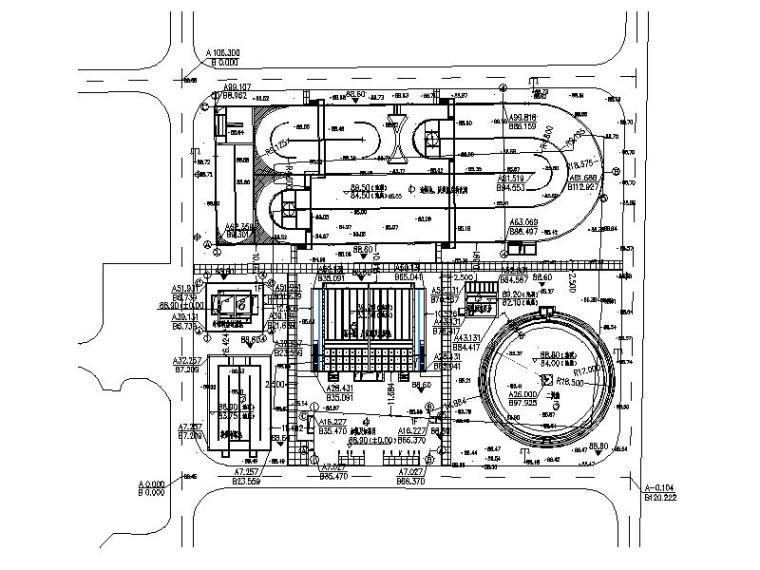 [河南]某市污水处理厂施工图纸(CAD)