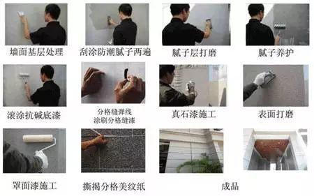 [呱呱亮]真石漆施工工艺流程及注意事项