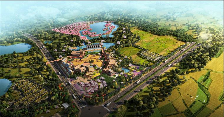 田园综合体生态园设计案例效果图