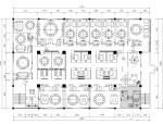 中式复古餐厅装修施工图(附实景图)
