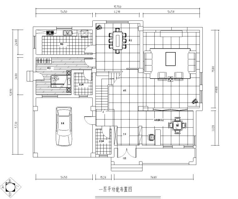 主臥床頭背景墻;書柜;鞋柜;酒水柜;衣柜);內部結構圖  一層平面布置圖圖片