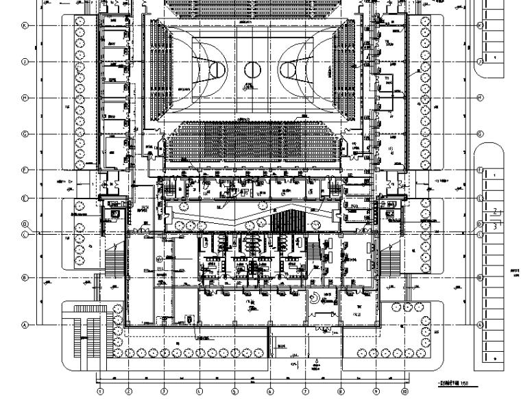 天津师范大学体育馆暖通安装工程施工图