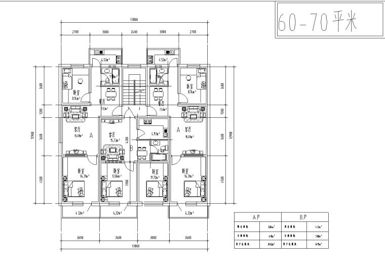 86种小区住宅户型平面装修施工图(86张)