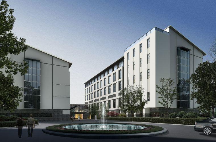 新中式居住小区景观规划设计模型