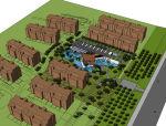 西安现代白桦林间住宅会所模型