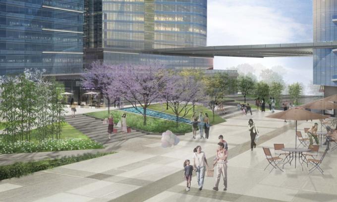 [广东]简约生态城市中心商业广场景观设计方案