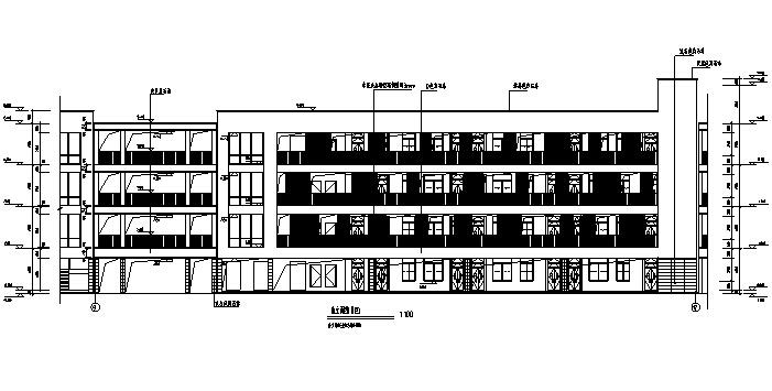 [江苏]小学及幼儿园教学办公楼及食堂建筑施工图(17年最新图纸)