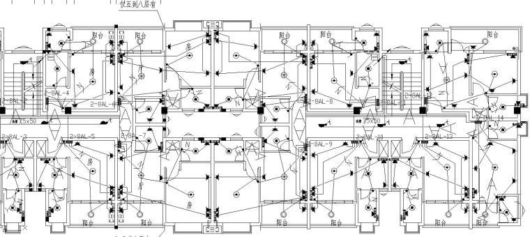 一梯四户小户型公寓平面资料下载-某小户型住户电气平面图