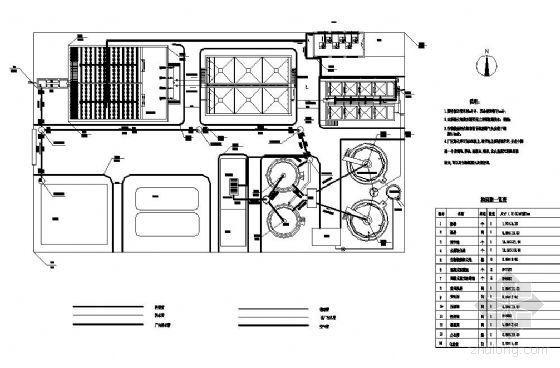 江苏某印染厂废水处理工程课设图纸