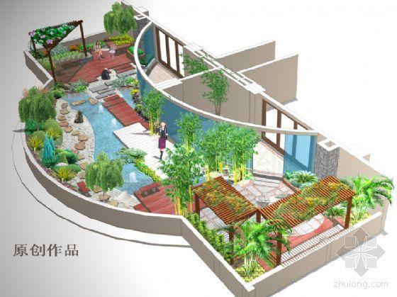 高层商业楼大露台景观设计方案-2