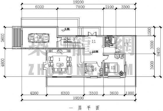 别墅户型平立面图3