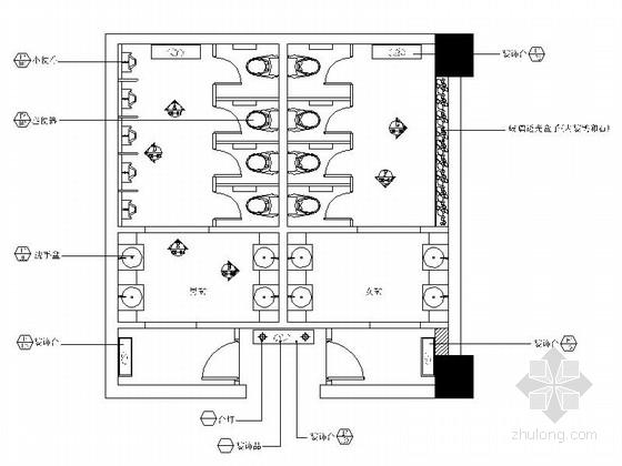 [四川]豪华酒店公共卫生间室内装修施工图