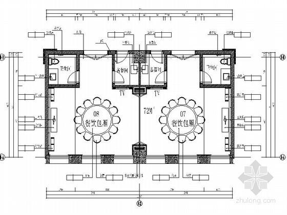 77㎡中餐厅包间室内施工图